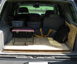 Cargo area platform slider for SUV, truck, station wagon
