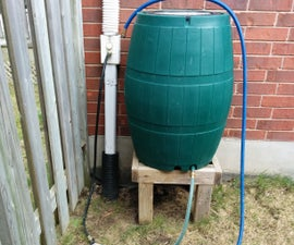 Bottom Filled Rain Barrel