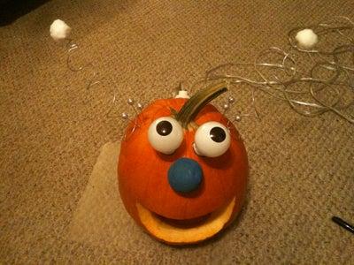 Glowing Lightbulb Jack-o-Lantern Pumpkin