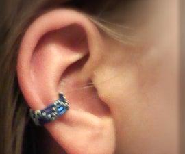 Easy wire weave ear cuff