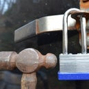 Easily open lock with a small hammer
