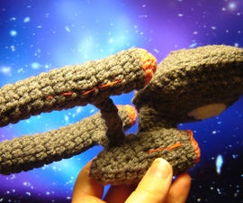 Crocheted Starship Enterprise