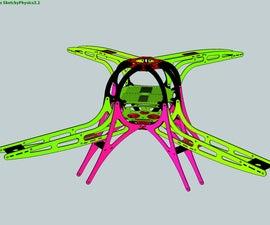 Quadcopter frame design (fiberglass).
