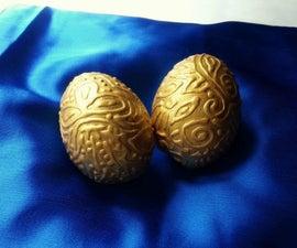 DIY Gold Embossed Eggs