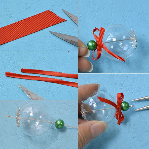 Picture of Make a Red Ribbon Bow Ornament
