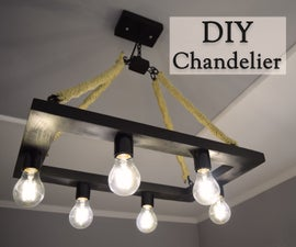 How to Make a Rustic Industrial Style Hemp Rope Chandelier
