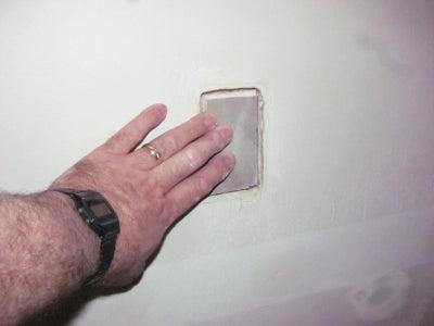 Hot Glue the Sheetrock 'Plug' Into Place