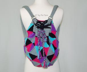 Easy Geometric Crochet Backpack