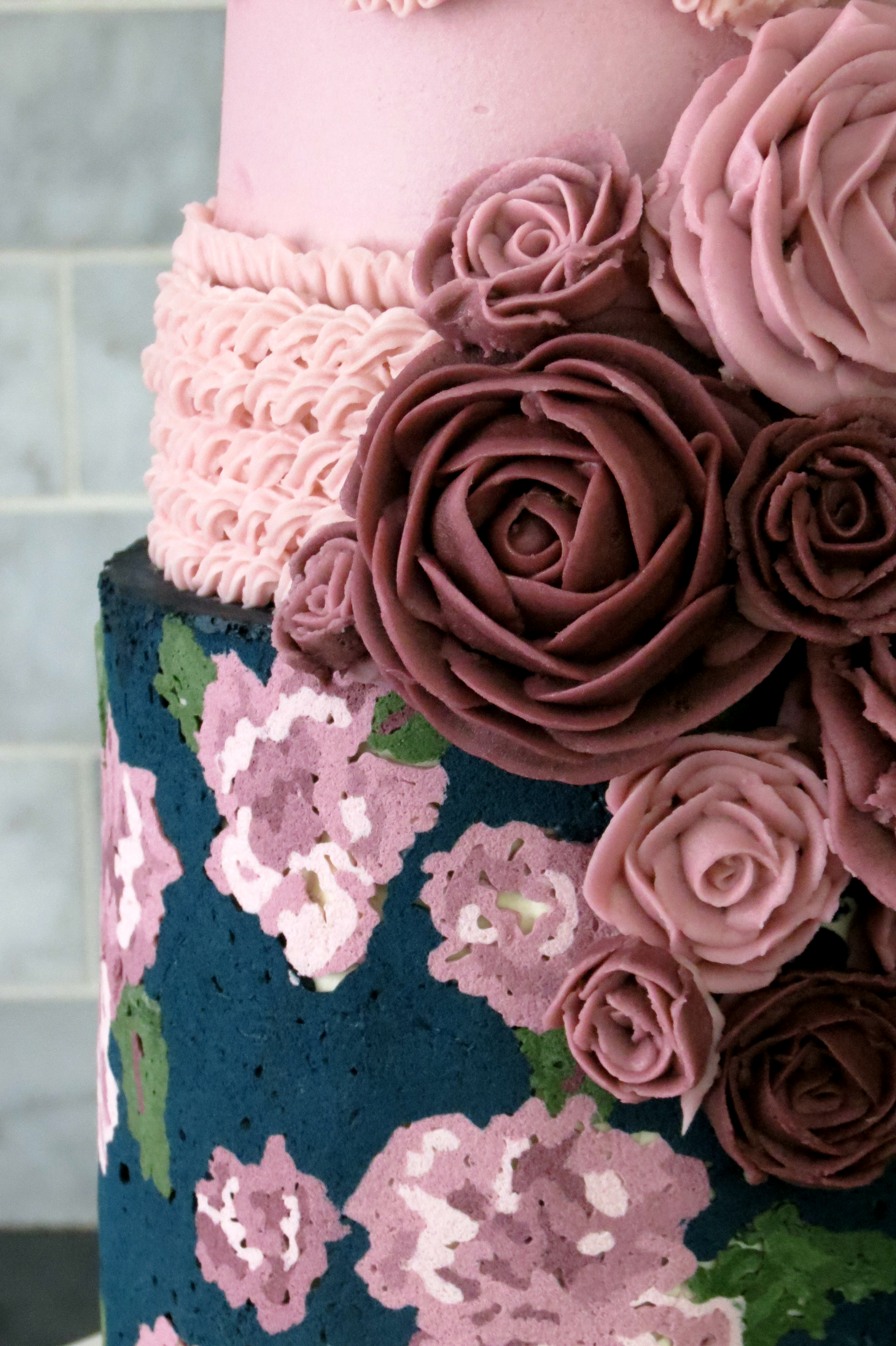Picture of Vintage Tapestry Cake - 3 Ways to Pipe Buttercream