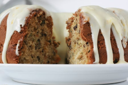 Deliciously Moist Courgette (Zucchini) Cake With Orange Cream Cheese Icing
