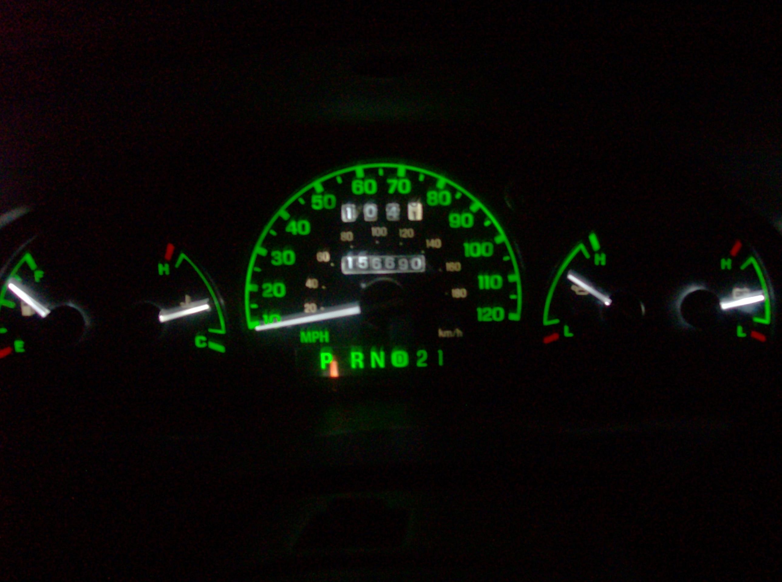 Replacing Lights for '98 Ford Ranger Instrument Cluster: 9 Steps