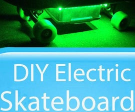 DIY Electric Skateboard with lights