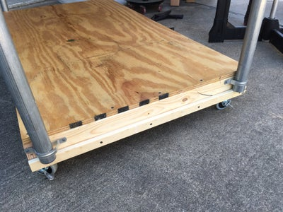 Attach Table to Lower Frame