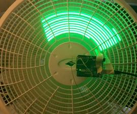 """Programmable LED Fan """"A Light Breeze"""""""