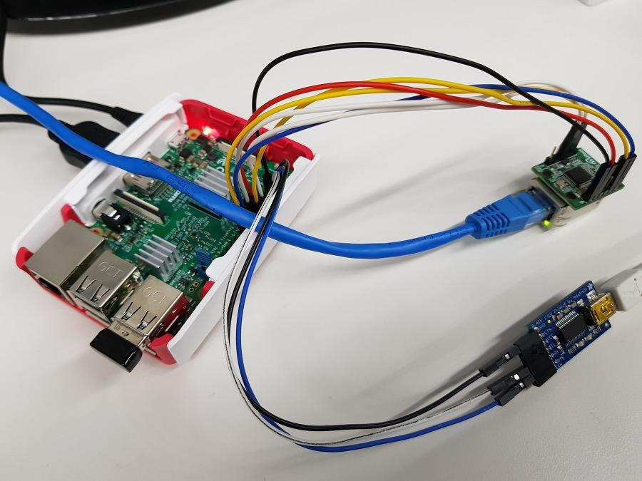 Picture of IoT Base Platform With RaspberryPi, WIZ850io : Platform Device Driver