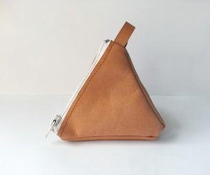 DIY Pyramid Leather Pouch