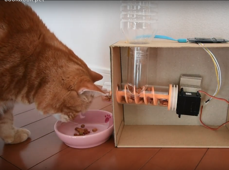 Picture of Feed Cat Remotely Using Smartphone With Obniz