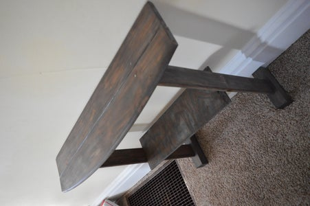 Broken Bed -> Weathered Gray Entry Table