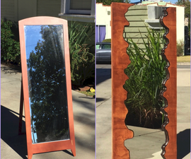Faux Live Edge Wood Mirror