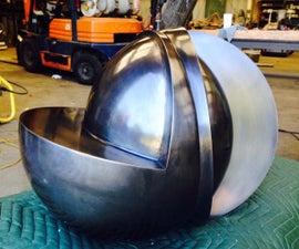 Spun Steel and Waterjet Cut Sculpture