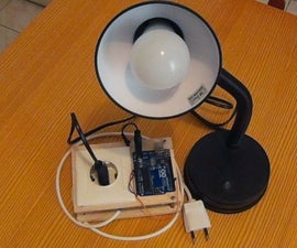 Arduino Bluetooth Controlled Desk Lamp - With Relay Safety Box