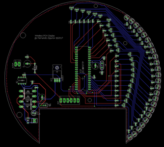 Power Receiver and the Actual POV Board