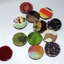 fabric covered locker magnets