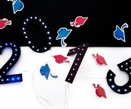 LED Marquee Para Tu Graduación / Prom Marquee LED