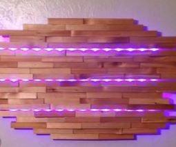 Split Cedar LED Wall Lamp