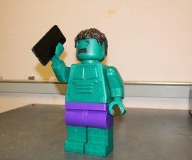 Giant Lego Hulk MiniFig (10:1 Scale) With a Twist