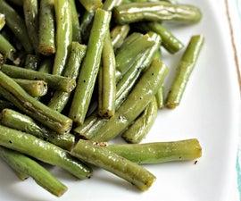 Super Easy Pan Fried Fresh Green Beans