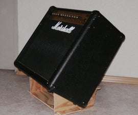 Guitar amp tilt stand - easy as Lincoln Logs - small, portable, simple, stable, cheap or free.