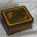 Marble effect tin box
