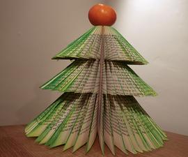 Hardback book christmas tree