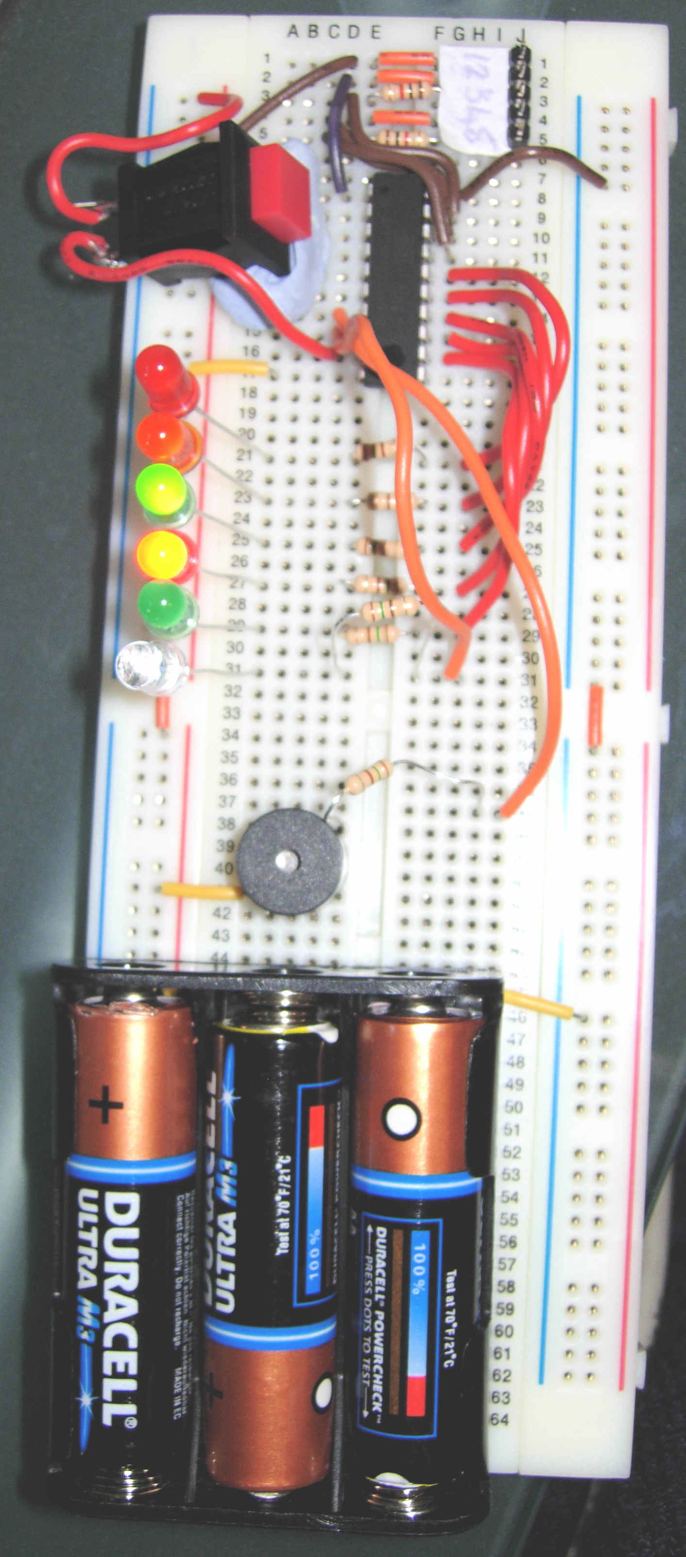 Picture of Micro Controller Programming: Making a Set of Traffic Lights