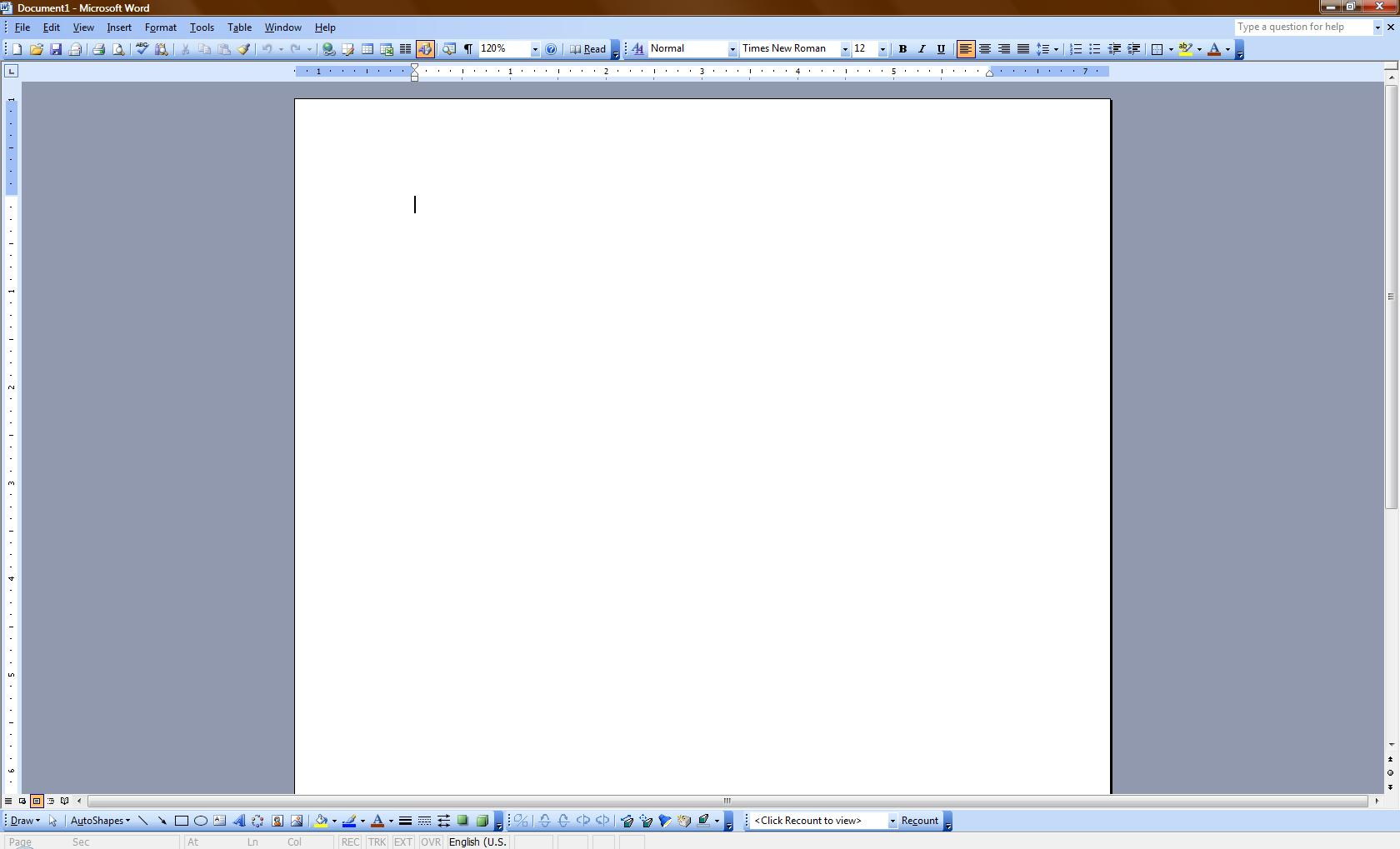 Picture of Crash Microsoft Word!