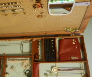 DIY Jewelry Cabinet Behind Mirror