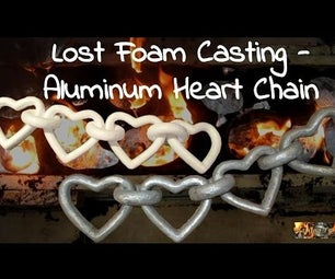 Valentines Day - Aluminum Heart Chain