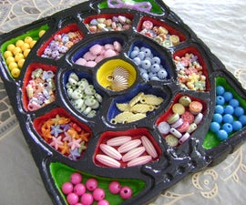 How to make an Organizing Beads Tray/Dish