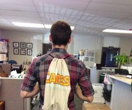 No-Sew T-Shirt Drawstring Backpack