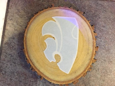 Carefully Remove Paper From Wood Slice