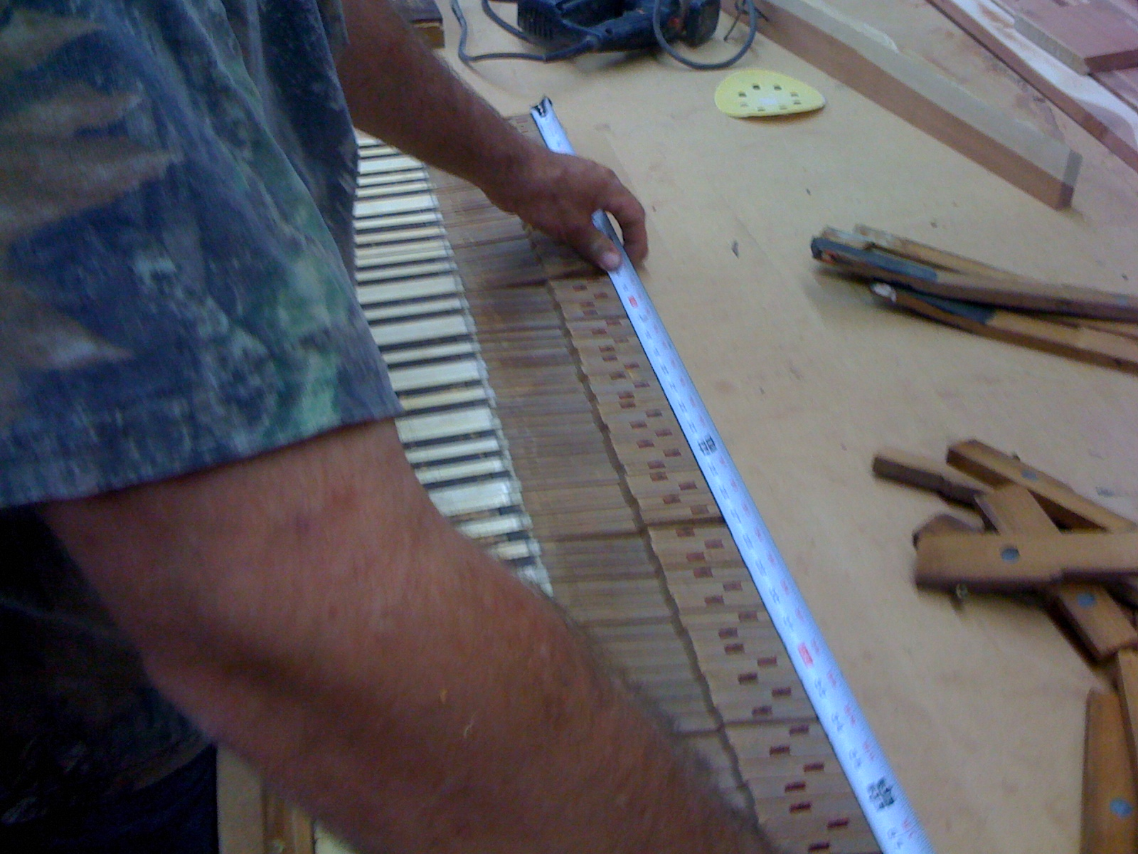 Picture of Prep the Piano Side, and Cut the Slot