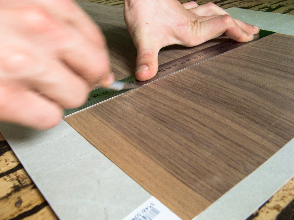 Picture of Mark and Cut the Veneer and Leather