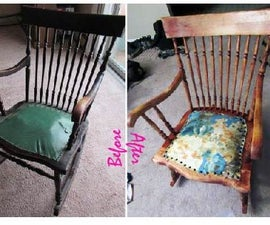 Refinishing/reupholstering a hand tied spring rocking chair