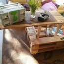 Pallet Coffee Table With Heavy Lift