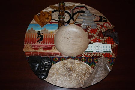 Wood Carving - North America Platter