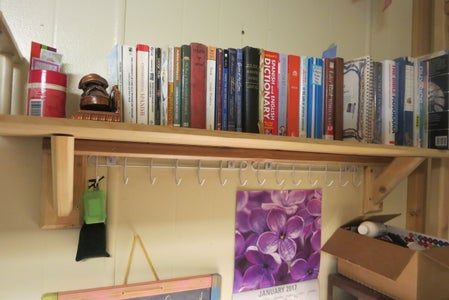 Simple Wall-Mounted Bookshelf
