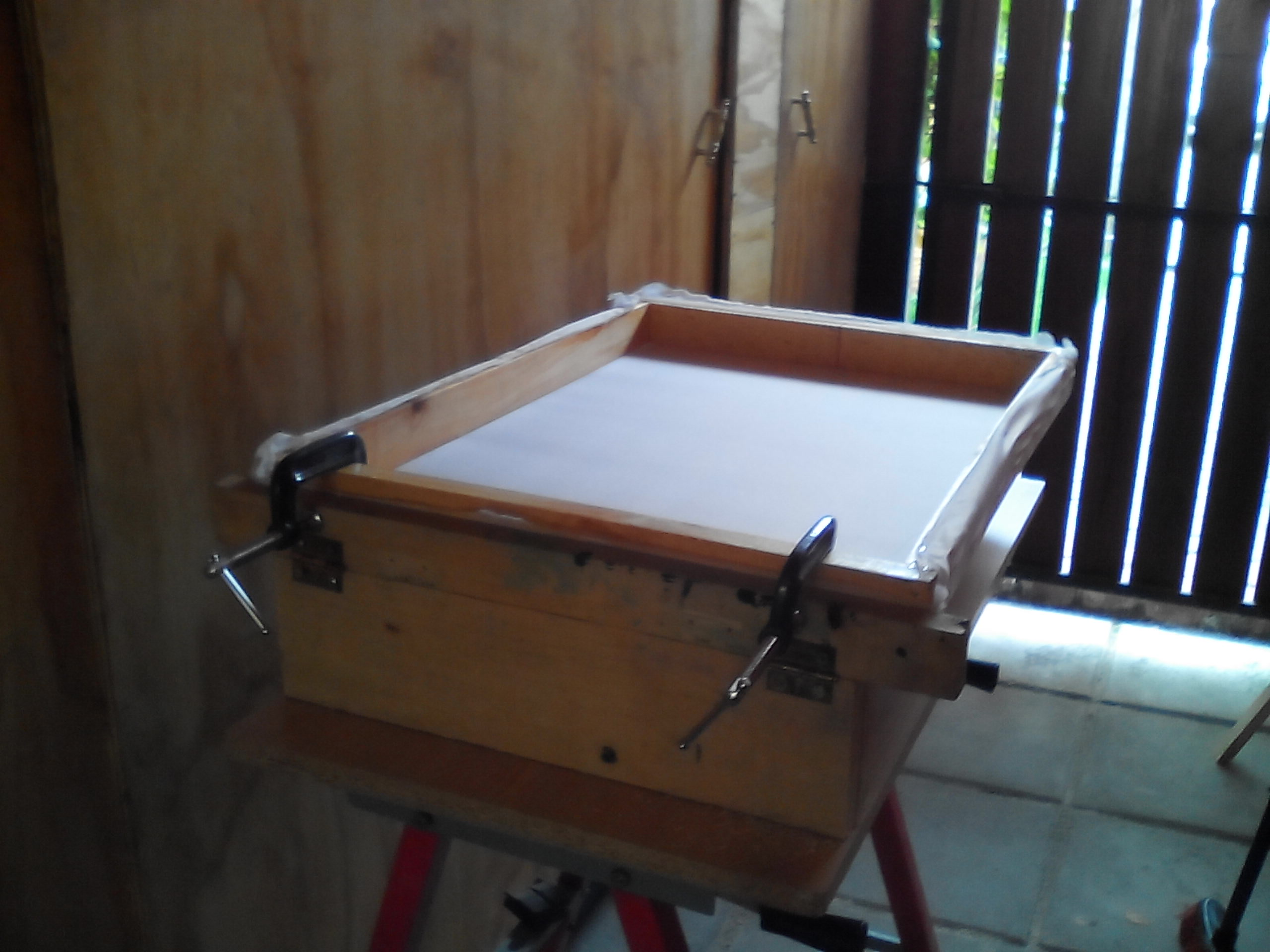Picture of One Station Press for Screen Printing