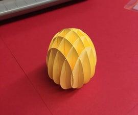 Sliceform Egg using Silhouette