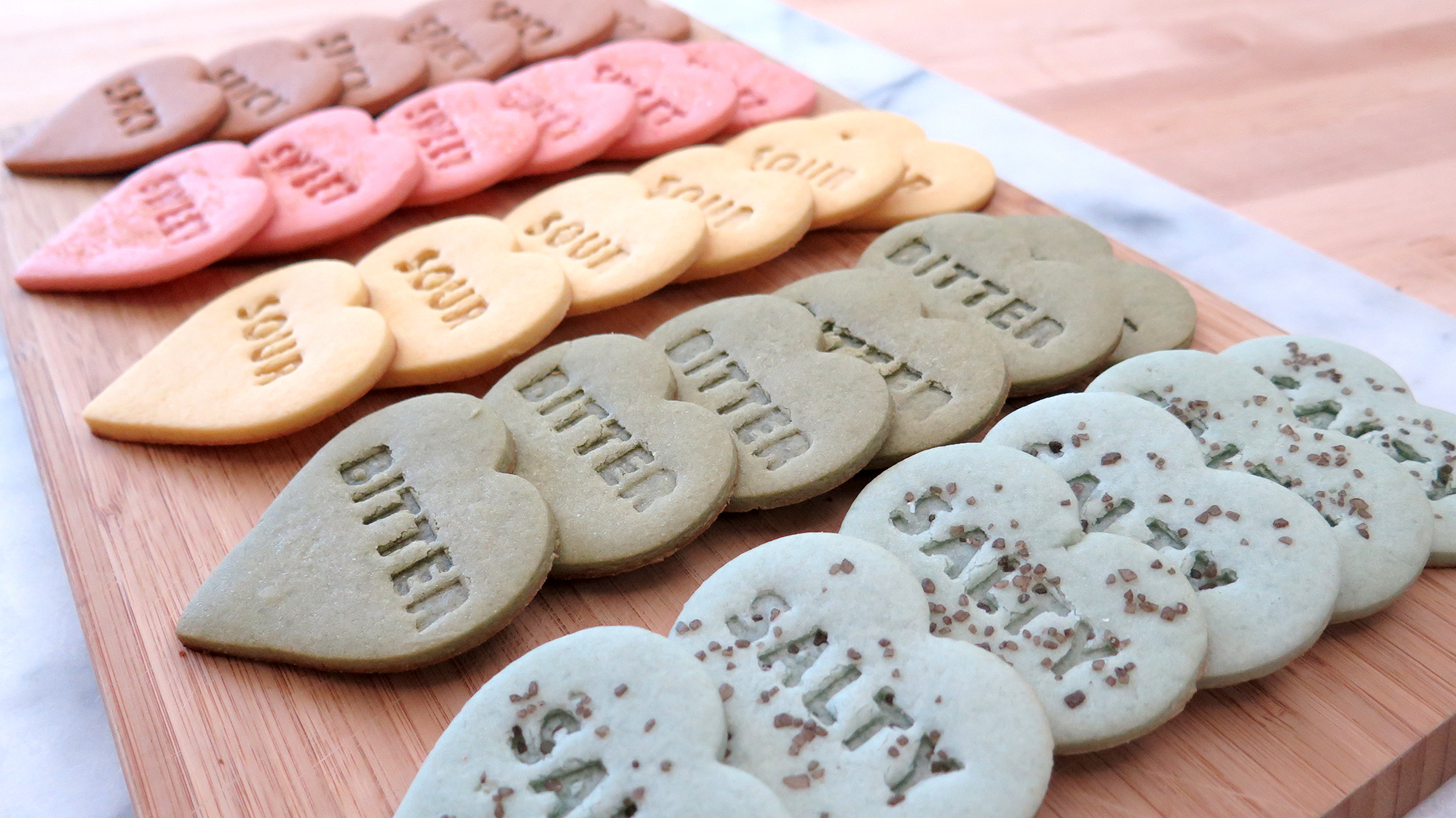 Picture of Stamped Heart Shortbread Cookies